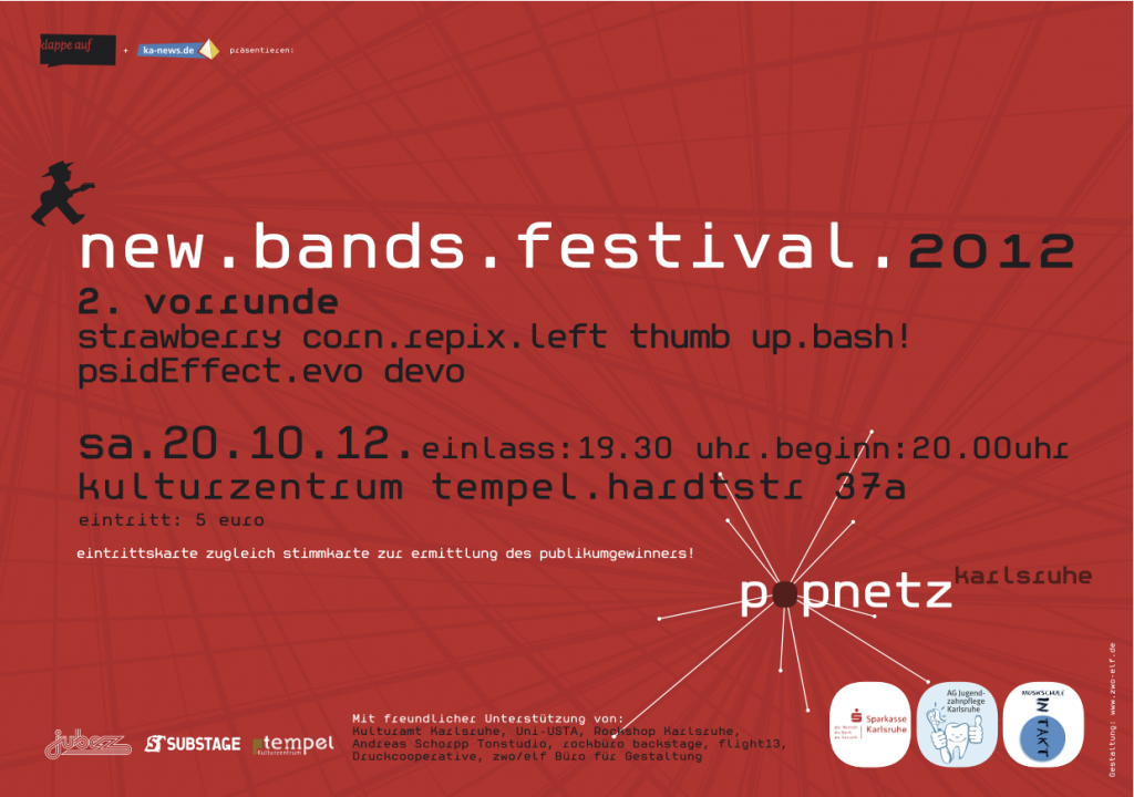 new.bands.festival Flyer 2012