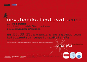 new.bands.festival Flyer 2013